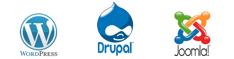WordRress, Drupal, Joomla!